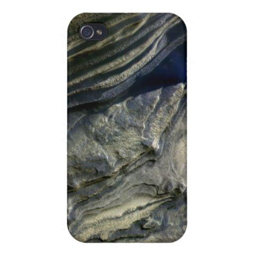 Capas expuestas en el barranco polar iPhone 4 fundas