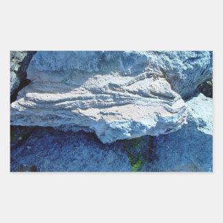 Capas formadas Z en piedra caliza Rectangular Pegatinas