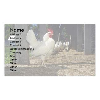 Capas (gallinas y gallos) tarjetas de visita