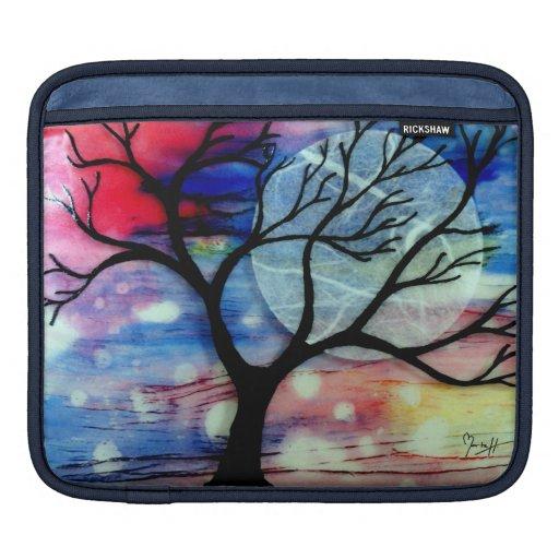 Capas transparentes del árbol y de la tinta mangas de iPad