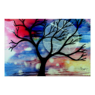 Capas transparentes del árbol y de la tinta impresiones