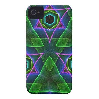 Capas triangulares de neón modernas frescas iPhone 4 Case-Mate cobertura