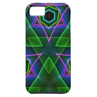 Capas triangulares de neón modernas frescas iPhone 5 fundas