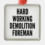 Capataz de trabajo duro de la demolición