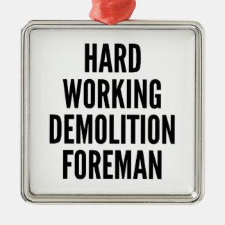 Capataz de trabajo duro de la demolición ornamento de reyes magos