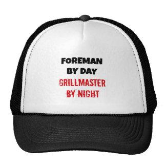 Capataz por el día Grillmaster por noche Gorras De Camionero