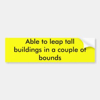 Capaz de saltar edificios altos en uces par de lím pegatina para auto