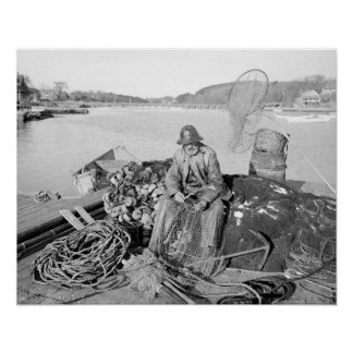 Cape Ann Fisherman, 1905. Vintage Photo Poster