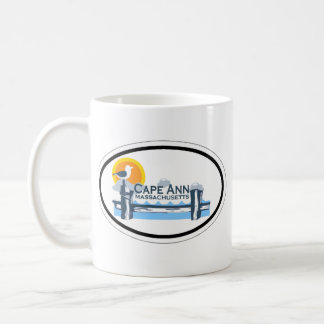 Cape Ann - Oval Design. Coffee Mug