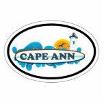 Cape Ann - Oval Design. Photo Cut Outs