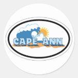 Cape Ann - Oval Design. Round Sticker