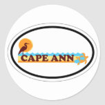 Cape Ann - Oval Design. Stickers