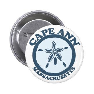 Cape Ann - Sand Dollar Design. 2 Inch Round Button