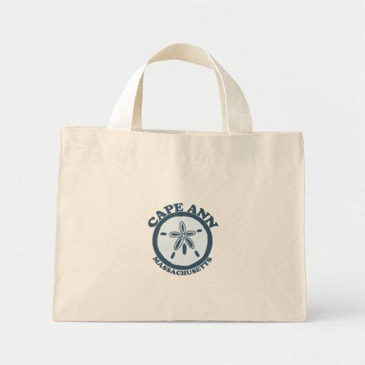 Cape Ann - Sand Dollar Design. Mini Tote Bag