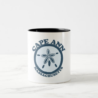 Cape Ann - Sand Dollar Design. Two-Tone Coffee Mug