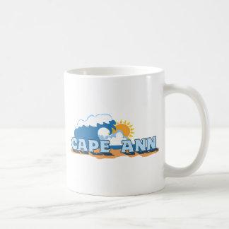 Cape Ann - Waves Design. Coffee Mug