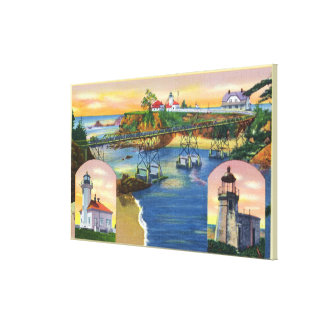 Cape Arago Bridge and Lighthouse Mouth Gallery Wrapped Canvas