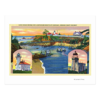 Cape Arago Bridge and Lighthouse Mouth Postcard