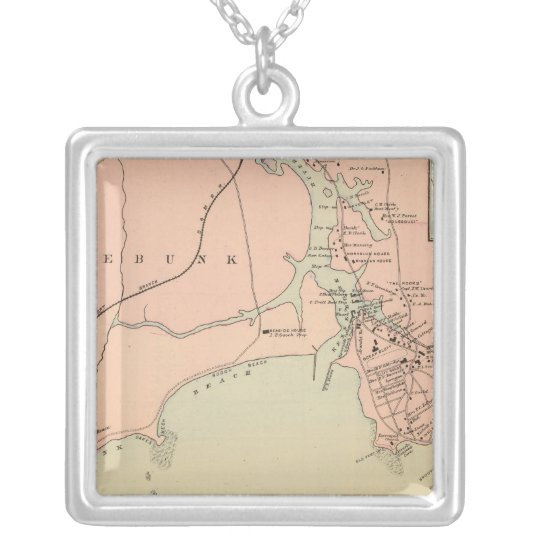 Cape Arundel, Kennebunkport, Maine Silver Plated Necklace