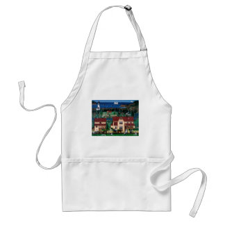 Cape Blanco Lighthouse and The Hughes House Adult Apron