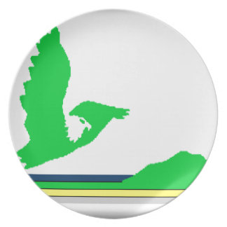 Cape Breton Island (Canada Nova Scotia) Flag Dinner Plate