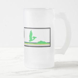 Cape Breton Island Flag Frosted Glass Beer Mug