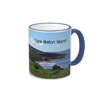 Cape Breton island Landscape Ringer Coffee Mug