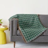 Cape Breton Nova Scotia Canada Tartan Pattern Throw Blanket