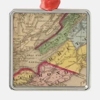 Cape Breton, Richmond counties, NS Metal Ornament