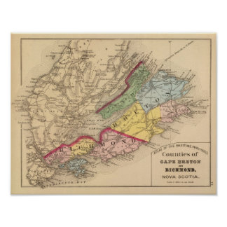 Cape Breton, Richmond counties, NS Poster