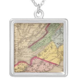 Cape Breton, Richmond counties, NS Square Pendant Necklace