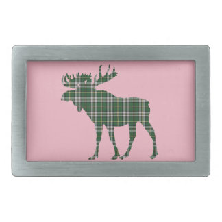 Cape Breton Tartan belt buckle pink moose