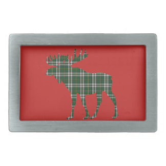 Cape Breton Tartan belt buckle red moose