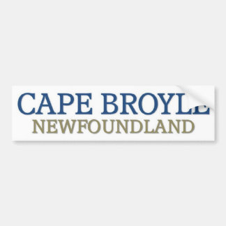 Cape Broyle newfoundland Bumper Sticker