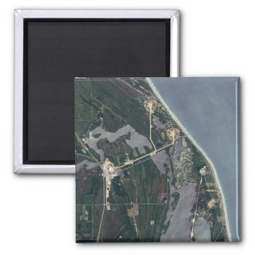 Cape Canaveral Aerial Shot 2 Inch Square Magnet
