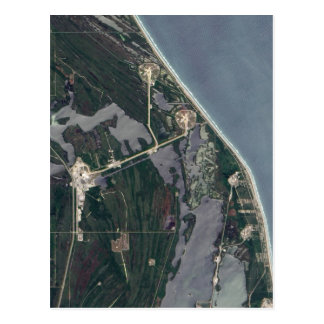 Cape Canaveral Aerial Shot Postcard
