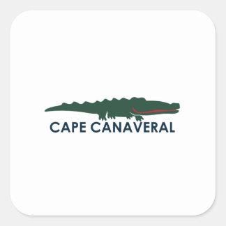 Cape Canaveral - Alligator. Square Sticker