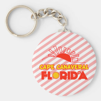 Cape Canaveral, Florida Basic Round Button Keychain