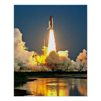 Cape Canaveral Florida Launch Pad Poster