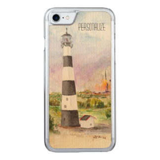 Cape Canaveral Lighthouse Rocket Launch Watercolor Carved iPhone 8/7 Case