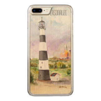 Cape Canaveral Lighthouse Rocket Launch Watercolor Carved iPhone 8 Plus/7 Plus Case