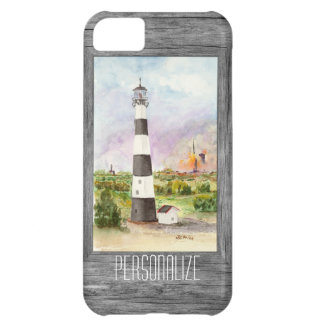 Cape Canaveral Lighthouse Rocket Launch Watercolor Case For iPhone 5C
