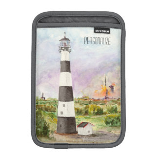 Cape Canaveral Lighthouse Rocket Launch Watercolor iPad Mini Sleeves