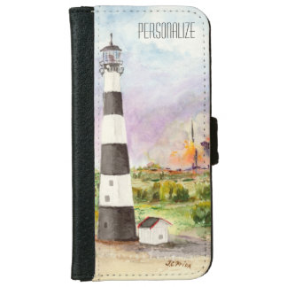 Cape Canaveral Lighthouse Rocket Launch Watercolor iPhone 6/6s Wallet Case