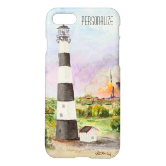 Cape Canaveral Lighthouse Rocket Launch Watercolor iPhone 8/7 Case