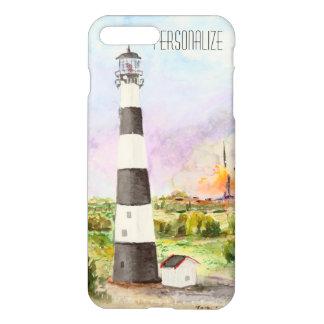 Cape Canaveral Lighthouse Rocket Launch Watercolor iPhone 8 Plus/7 Plus Case