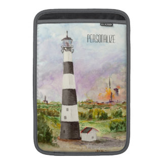 Cape Canaveral Lighthouse Rocket Launch Watercolor MacBook Sleeves
