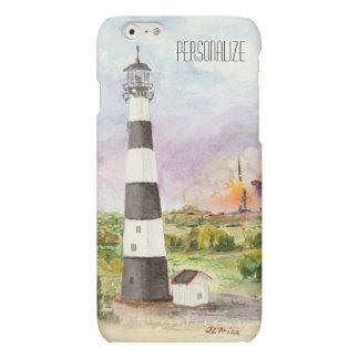 Cape Canaveral Lighthouse Rocket Launch Watercolor Matte iPhone 6 Case