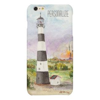 Cape Canaveral Lighthouse Rocket Launch Watercolor Matte iPhone 6 Plus Case
