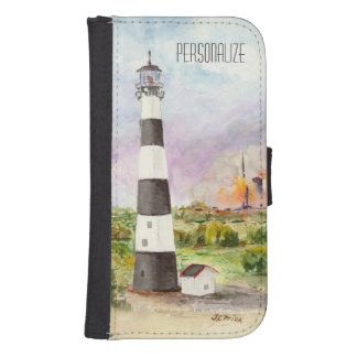 Cape Canaveral Lighthouse Rocket Launch Watercolor Phone Wallet